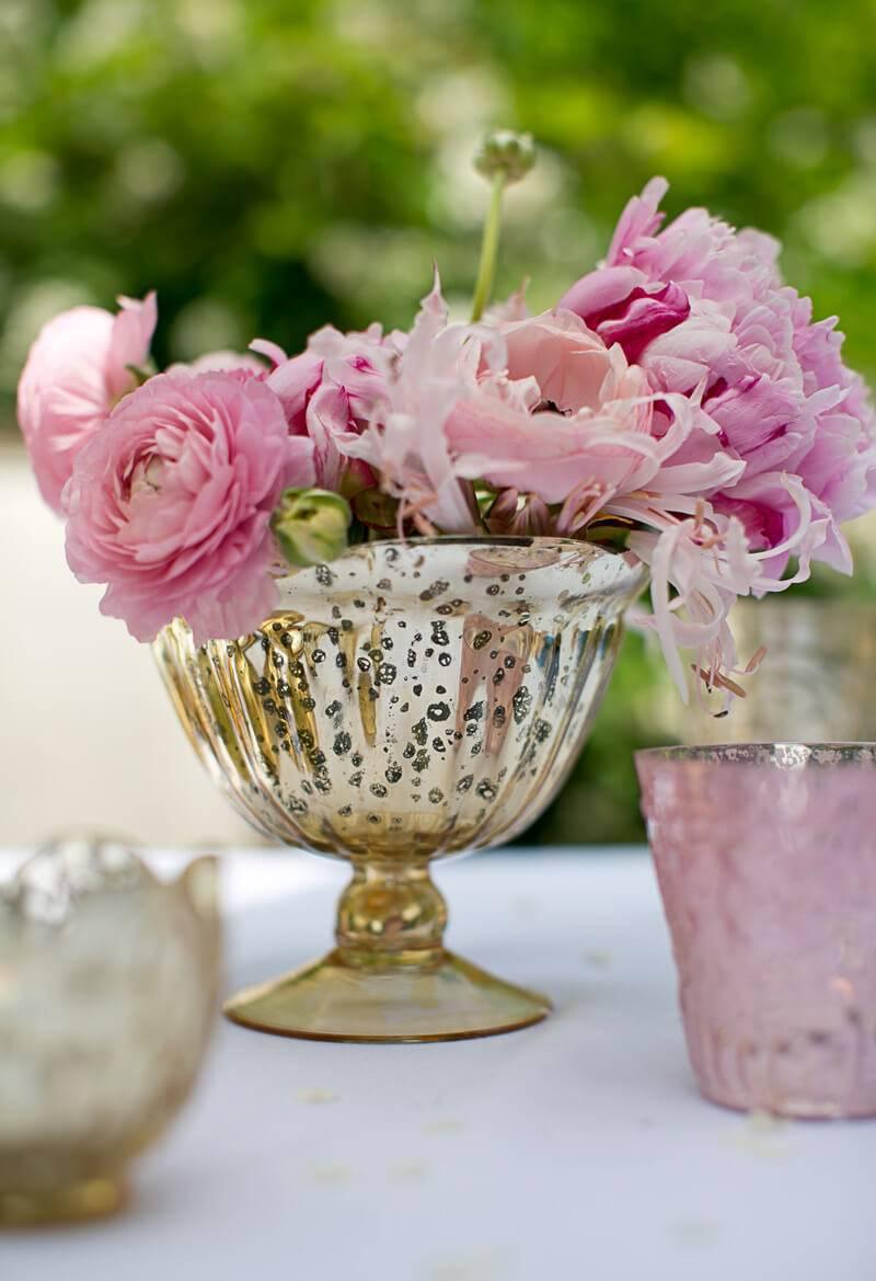 Gold Carraway Compote Vase