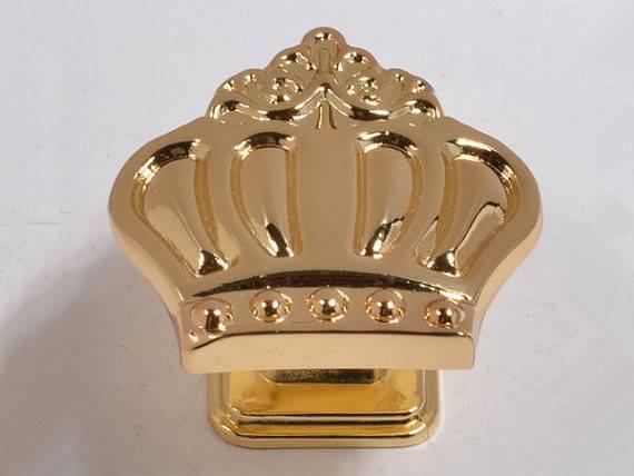 Gold Crown Knob Kids Dresser Knobs Drawer Pulls Children