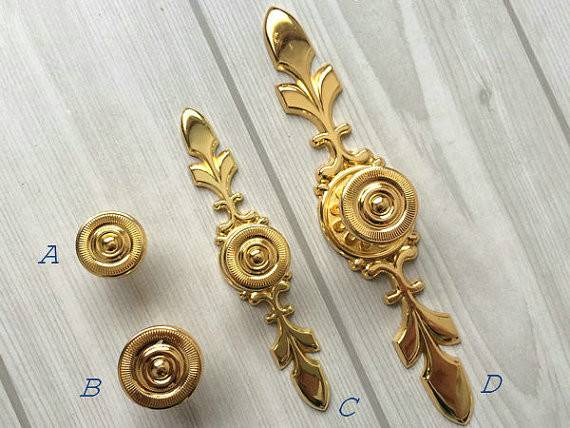 Gold Drawer Knobs Pulls Handle Dresser Knob Pull Kitchen Cabinet Door