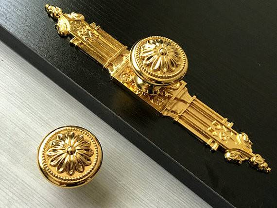 Gold Dresser Knob Drawer Knobs Pulls Handles Kitchen Cabinet
