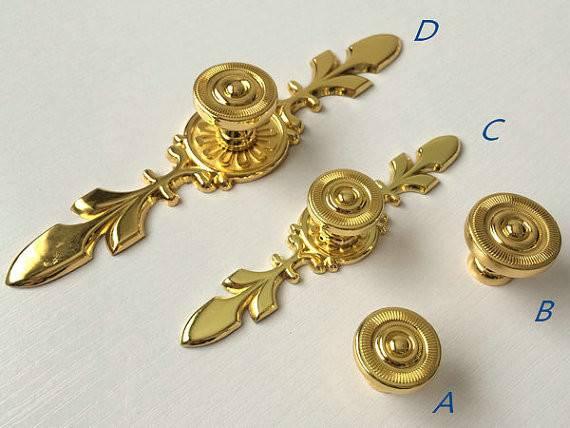 Gold Dresser Knob Pull Drawer Knobs Pulls Handles Kitchen Cabinet
