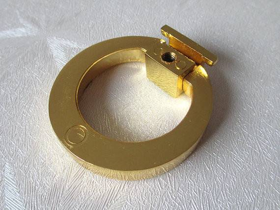 Gold Dresser Pull Knobs Drawer Knob Pulls Handles Drop Rings Kitchen