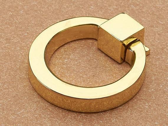 Gold Dresser Pull Knobs Drawer Knob Pulls Handles Drop Rings Silver