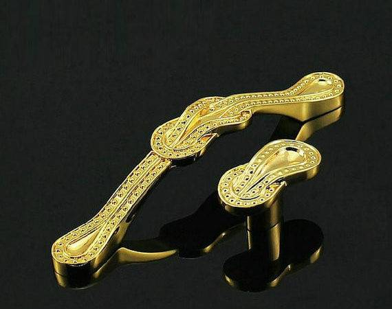 Gold Dresser Pulls Knobs Drawer Handles Kitchen Cabinet Handle