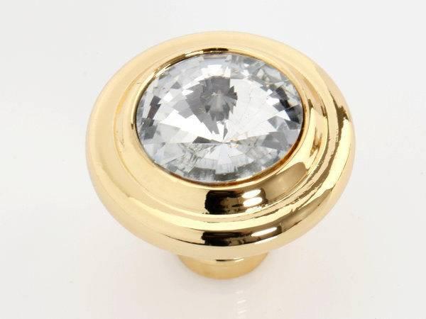 Gold Glass Knobs Dresser Pulls Drawer Pull Handles Crystal
