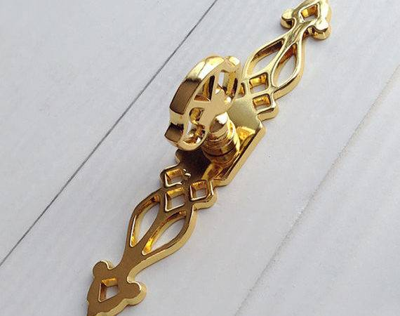 Gold Handles Dresser Pulls Back Plate Drawer Knob