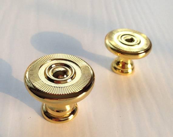 Gold Knobs Cabinet Knob Dresser Drawer Pulls Handles