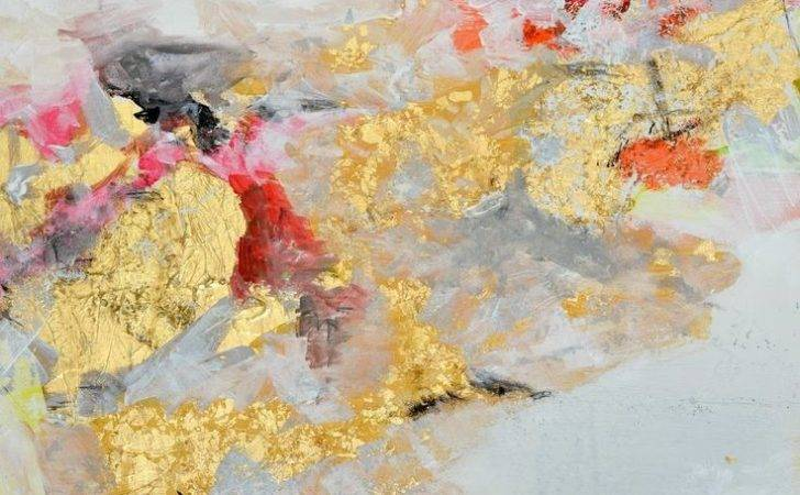 Gold Leaf Abstract Painting Art Pinterest Large Canvas