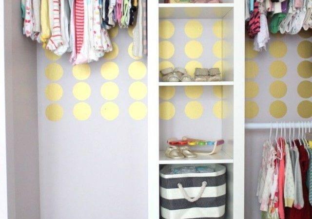 Gold Polka Dots Nursery Closet Project