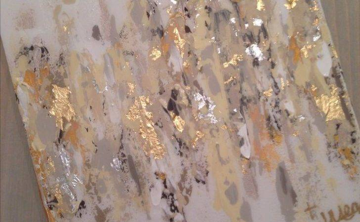 Gold Silver Art Canvas Abstract