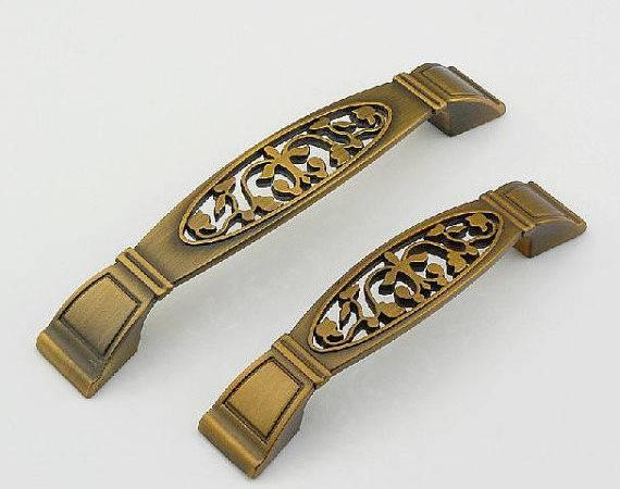 Gold Vintage Drawer Pull Handles Dresser Knob Pulls Antique
