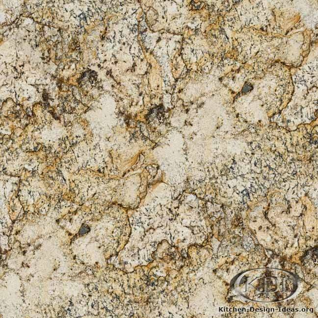 Golden Ice Granite Kitchen Countertop Ideas