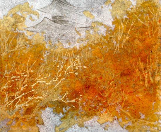 Golden Inspirations Gold Leaf Painting