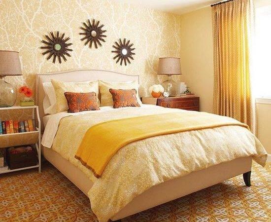 Good Bedroom Paint Colors Orange Yellow Brown Palette