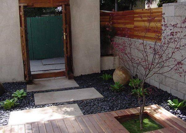 Good Example Cinder Block Stone Wood Black Star Gravel