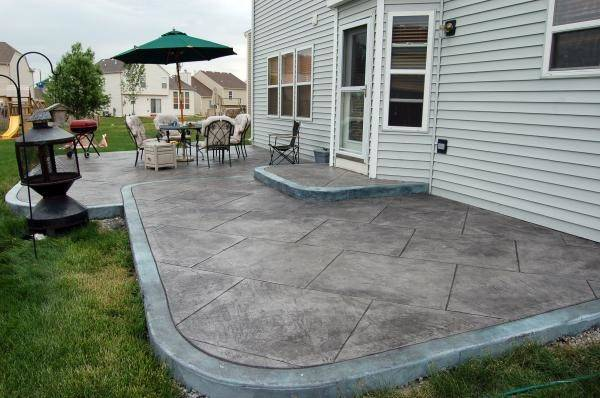 Good Looking Poured Concrete Patio Design Ideas