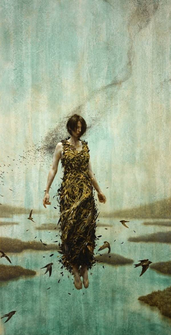 Gorgeous New Oil Gold Leaf Painting Brad Kunkle Modern Met