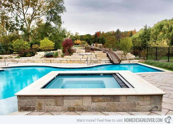 Gorgeous Swimming Pool Slides Fox Home Design