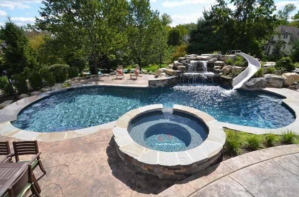 Gorgeous Swimming Pool Slides Home Design Lover