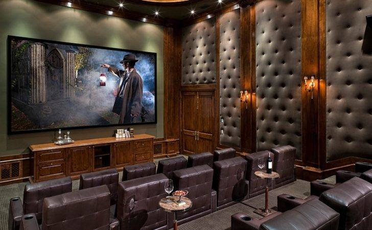 Gorgeous Tufted Wall Panels Improve Acoustics Home Theater