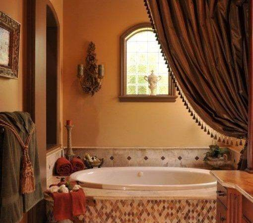 Gorgeous Tuscan Inspired Bathroom Another Enclosed Tub Love