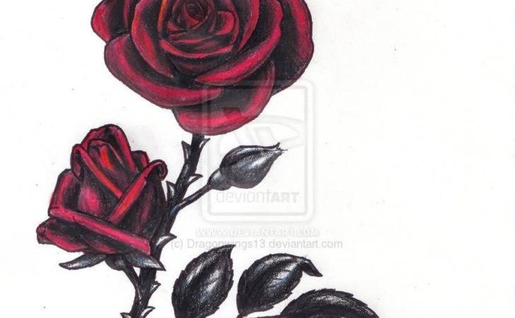 Gothic Rose Tattoos Design Ideas