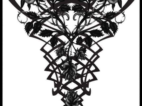 Gothic Vampire Back Tattoo Quicksilverfury Deviantart