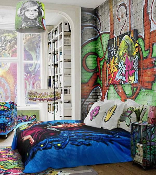 Graffiti Bedroom Decoration Wall