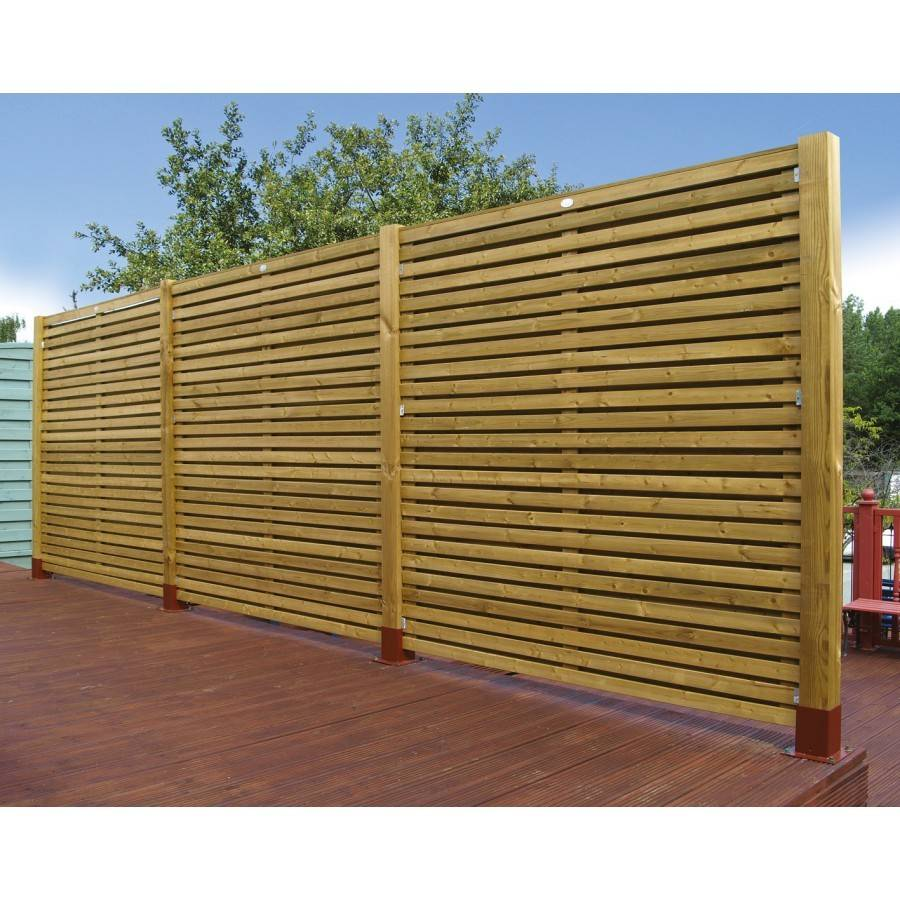 Grange Wooden Contemporary Garden Fence Panel Gardenfencing