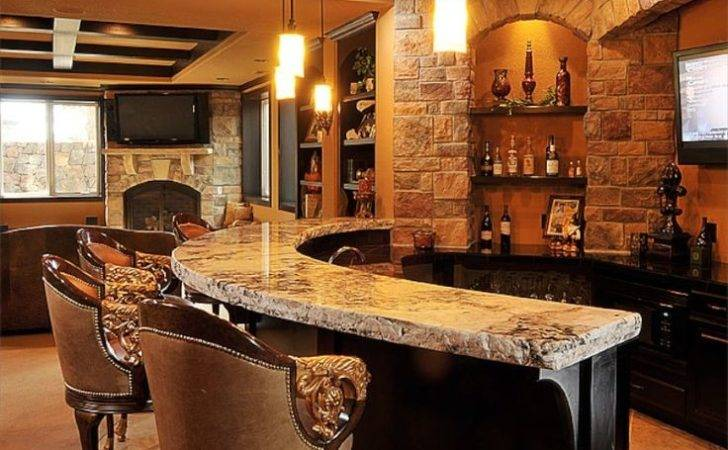 Granite Home Bar Counter Top Highly Luxurious Living Space