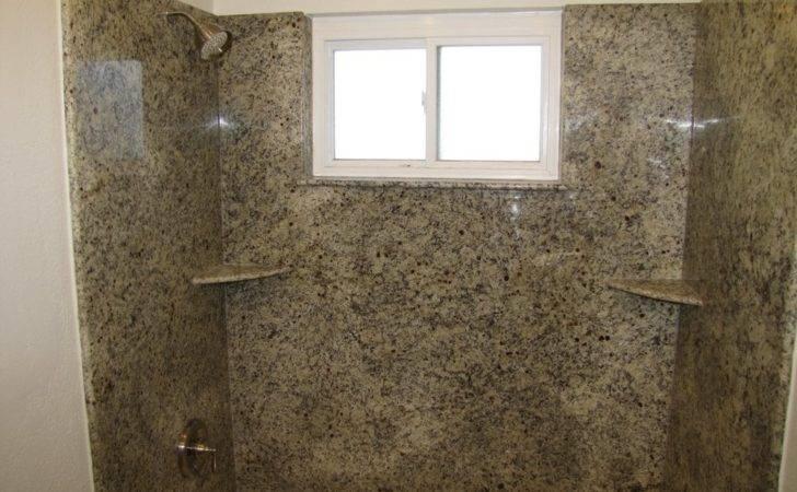 Granite Slab Shower Walls New Moen Valve Yelp