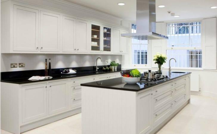 Granite Worktop Wraps Around Kitchen Island Provides