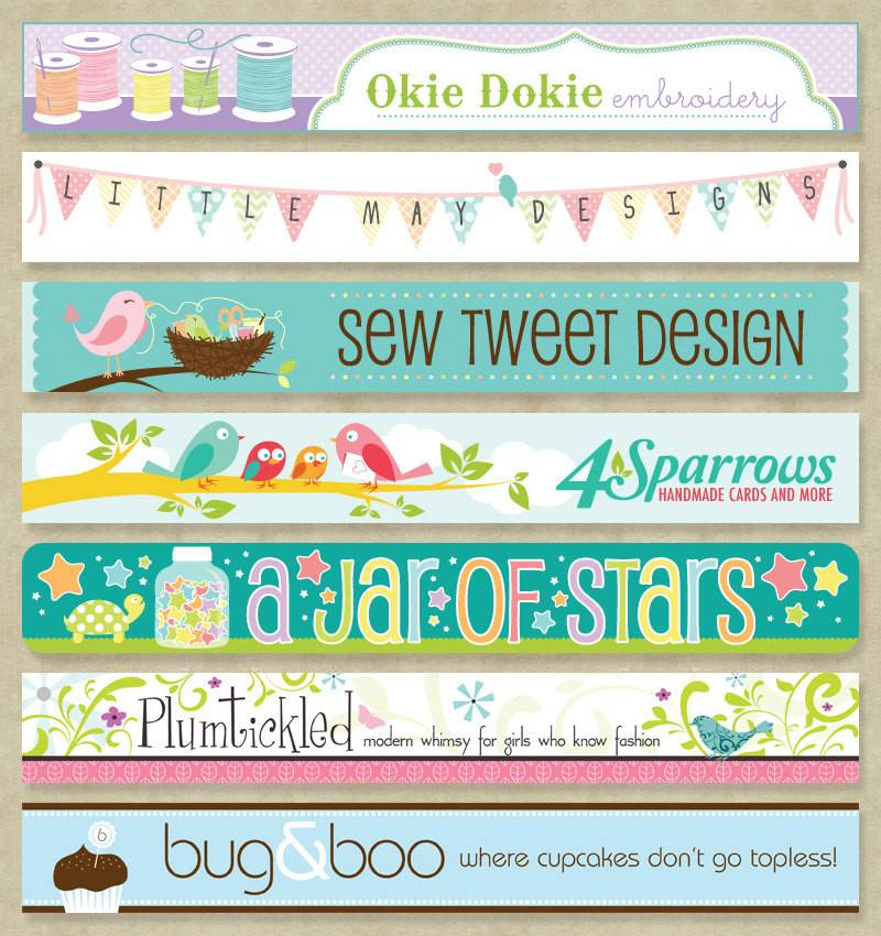 Graphic Design Custom Etsy Banner Plus Studio