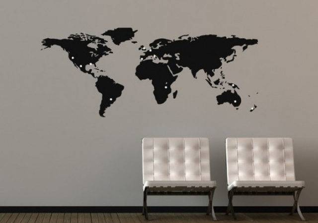 Graphics World Map Wall Stickers Modern Decals