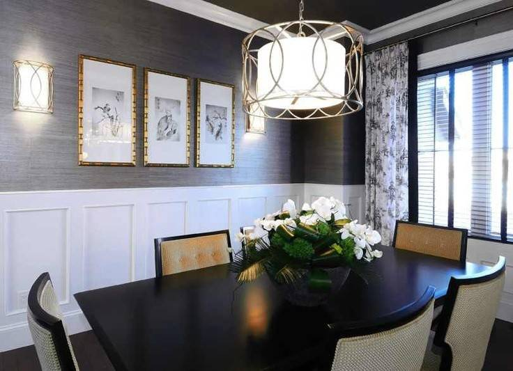 Grasscloth Luxe Dining Room Inspiration Decorating