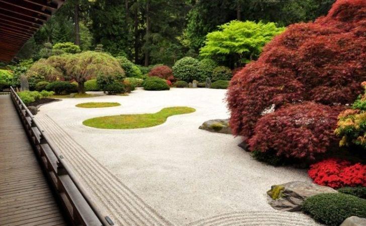 Gravel Zen Garden Portland Japanese