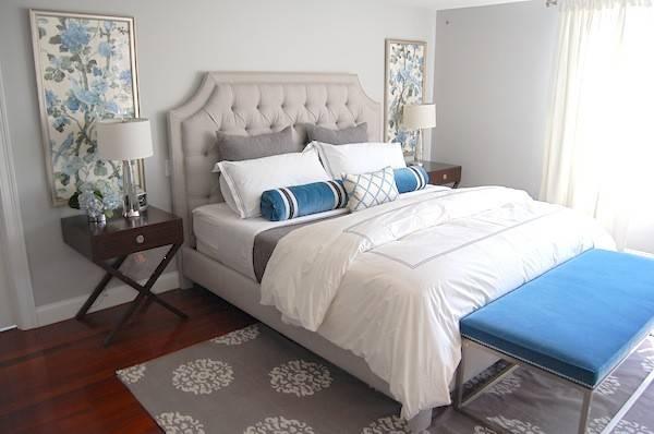 Gray Blue Bedroom Transitional Erin Gates Design