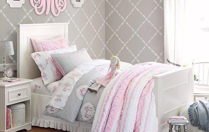 Gray Girls Room Home Pinterest