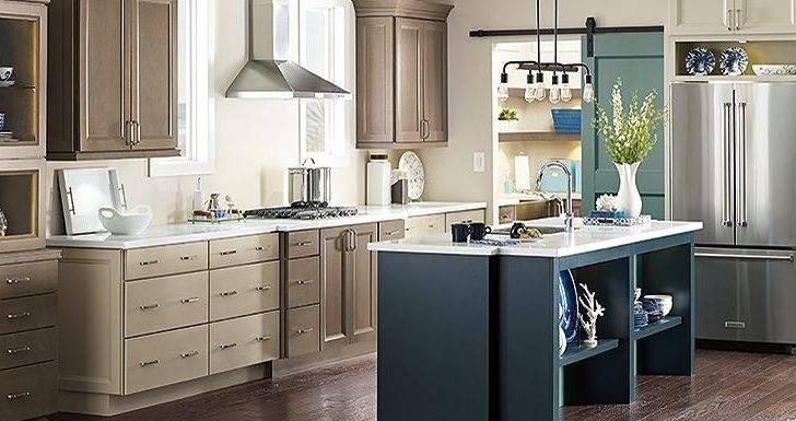 Gray Khaki Blue Slate Kitchen Cabinets Thomasville Cabinetry