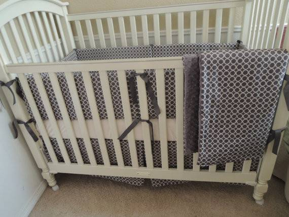 Gray Modern Baby Bedding Set