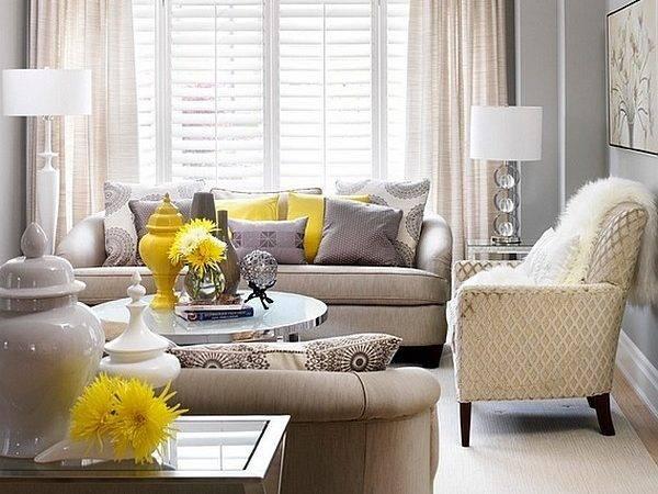 Gray Yellow Living Room Dash Elegant Sophistication