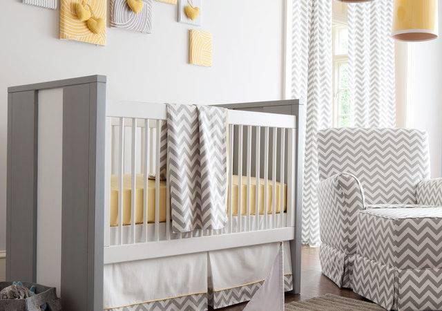 Gray Yellow Zig Zag Nursery Carousel Designs Contemporary