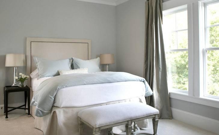 Graysilk Curtains Transitional Bedroom Ashley Goforth Design