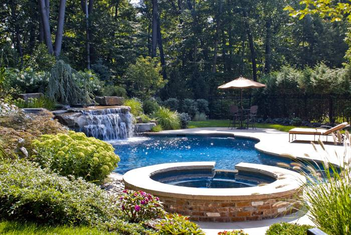 Great Ground Pool Spa Design Ideas Installation Saddle