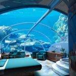Great Ideas Fish Tank Over Bed Contemporary Glamorous Bedroom