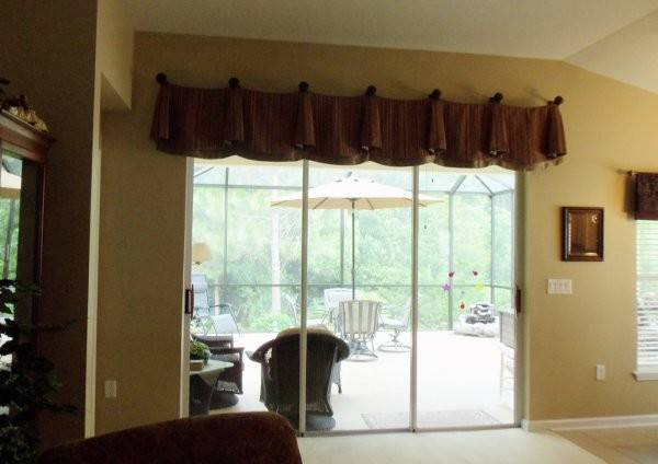 Great Looking Sliding Glass Door Window Treatments Rustic Look