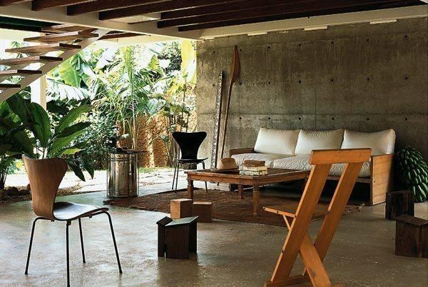Great Modern Tropical Kitchen Design Wooden Furniture Set