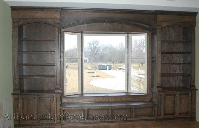 Great Room Custom Bookcases Window Seat Artisan