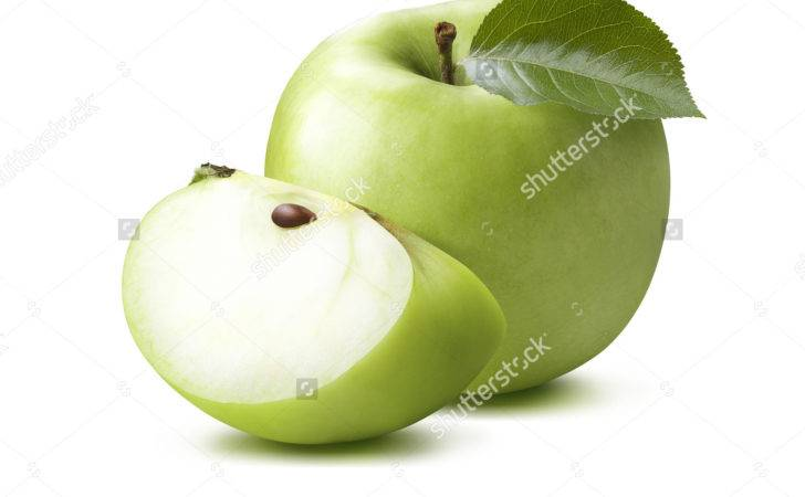 Green Apple Quarter Isolated White Package Design