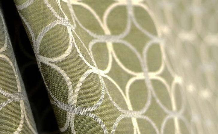Green Contemporary Upholstery Fabric Geometric